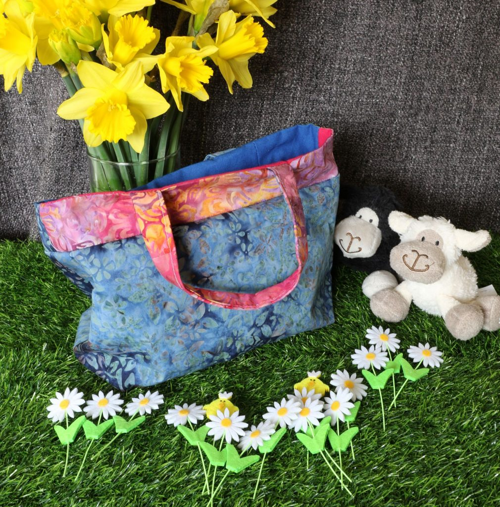 Tote bag - blue floral